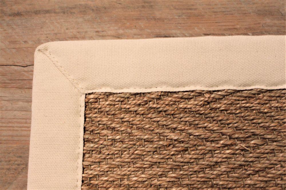 Natural Fibre Rug Ivory Cotton Border
