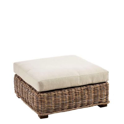 SALON RATTAN POUF
