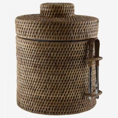 RATTAN ICE CUBE BUCKET MEDIUM