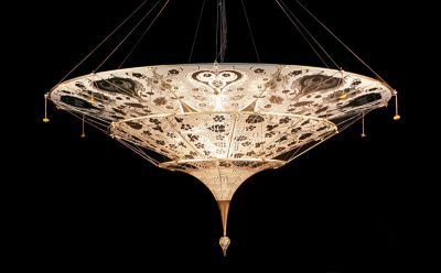 FORTUNY MURANO GLASS 3 TIER LIGHT