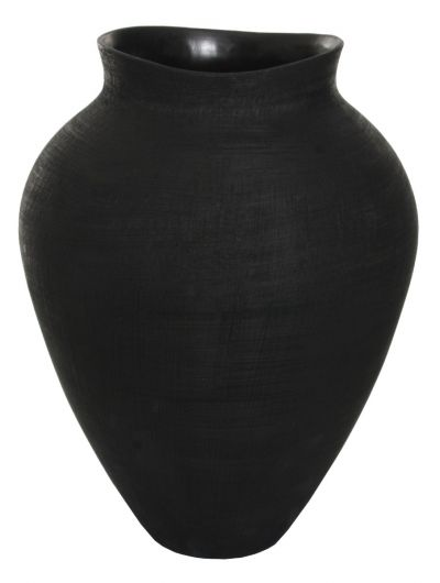 CERAMIC MATT BLACK VASE