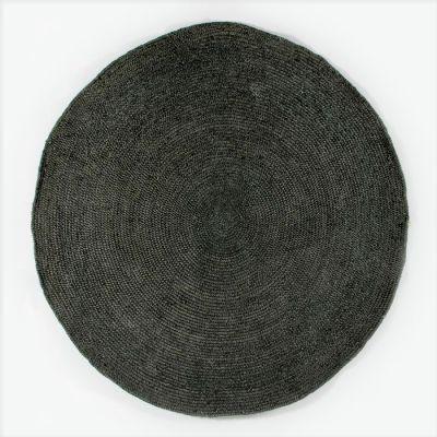 ROUND BLACK JUTE RUG