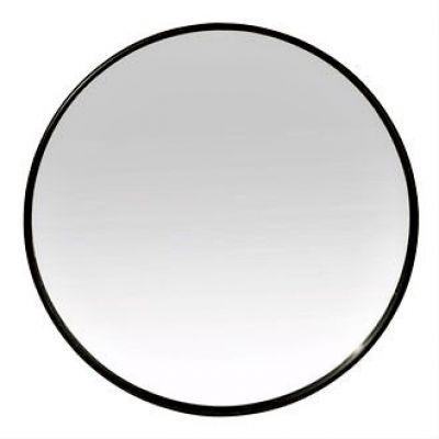 BLACK STEEL ROUND MIRROR