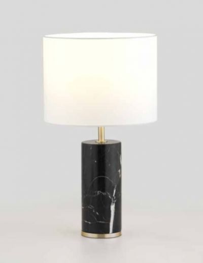 CARRARA BLACK MARBLE LAMP