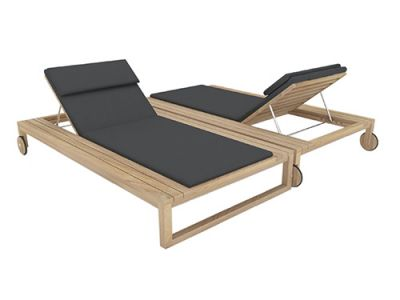 MILOS OUTDOOR DOUBLE SUN LOUNGER
