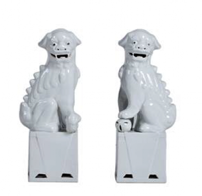 FOO DRAGON DOGS WHITE XL / SET 2