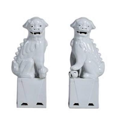 FOO DRAGON DOGS WHITE XL / SET 2