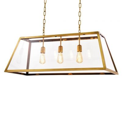 HARPERS BRASS HANGING LIGHT