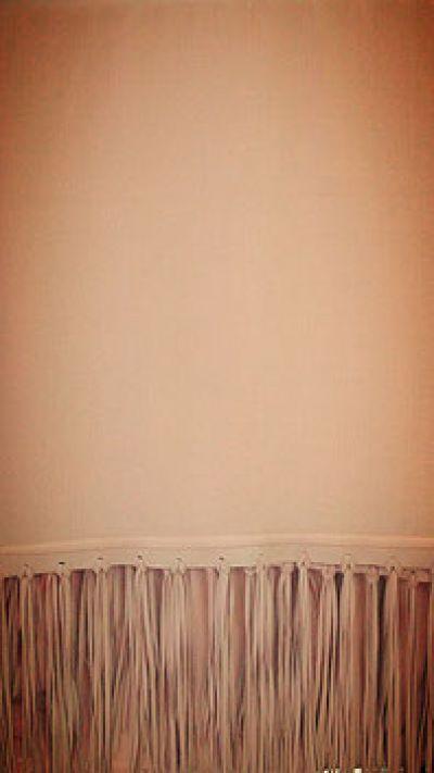 ETOLES CASHEMIRE / SUEDE FRINGE ROSE NUDE