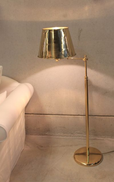 VOLTAIRE BRASS FLOOR LAMP