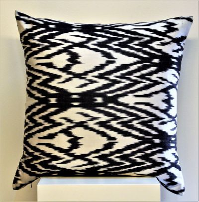 Spider Silk Ikat Cushion
