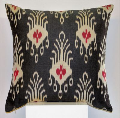 Peacock Silk Ikat Cushion