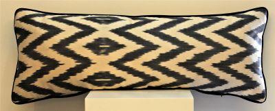 Zig Zag Grande Silk Ikat Cushion