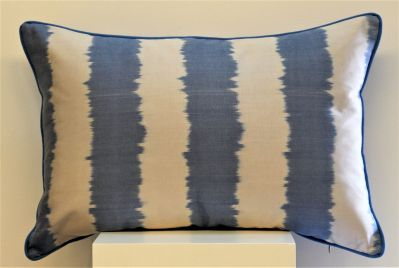AZUL & IVORY SILK IKAT CUSHION 40 x 60