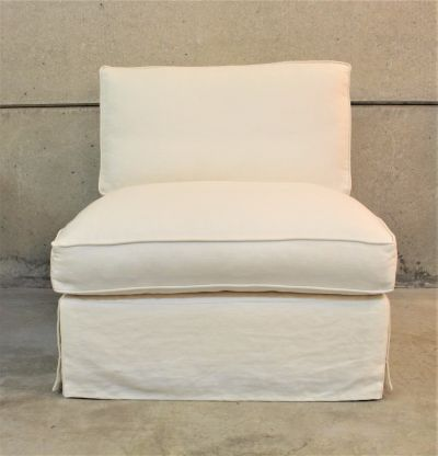 OSCAR  LINEN SLIPPER CHAIR