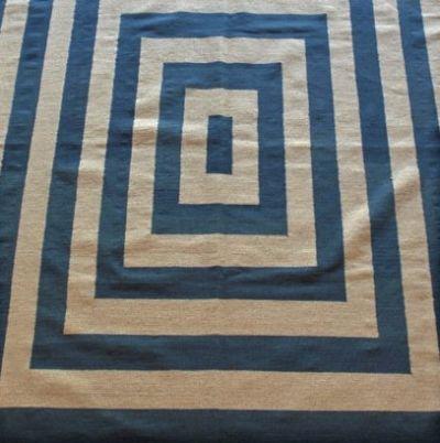 Pakistan Blue & Ivory wool kilim 288 cm x 201 cm