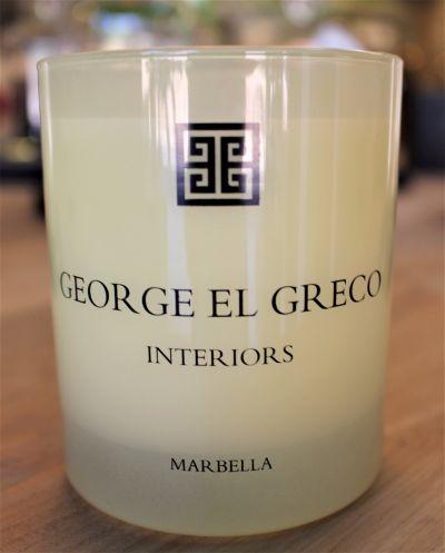 GEORGE EL GRECO MARBELLA SCENTED CANDLE / TUBEROSE & JASMINE