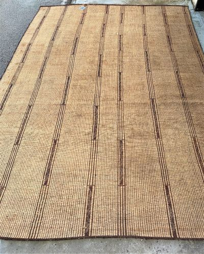 TUAREG REED AND LEATHER RUG