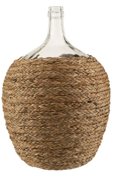 JUTE & GLASS BOTTLE