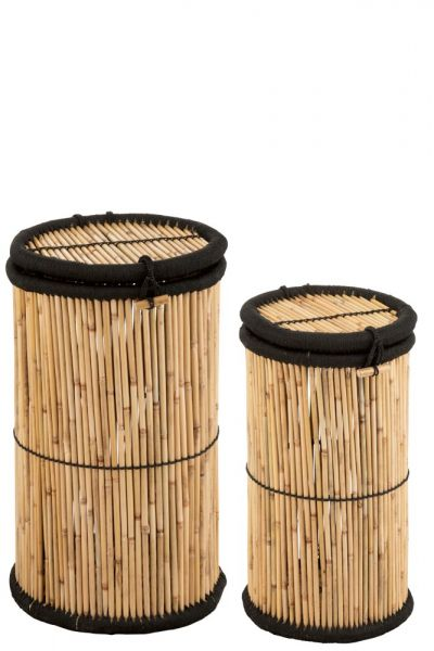 MOZAMBIQUE BAMBOO BASKETS SET / 2