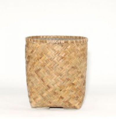 ZAYN BAMBOO AND MICROCEMENT PLANTER  L