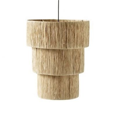 3 TIER RAFFIA CEILING LAMP