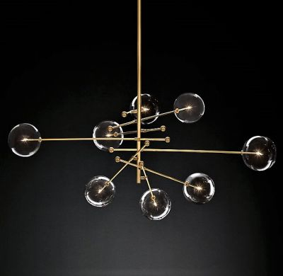 COSMOS SOLID BRASS & GLASS PENDANT LIGHT