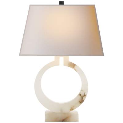 RING FORM LARGE TABLE LAMP / ALABASTER