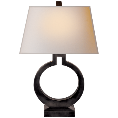 RING FORM LARGE TABLE LAMP / BRONZE